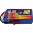 X-maxpower 11.1V 35C 860mAh RC li-po battery